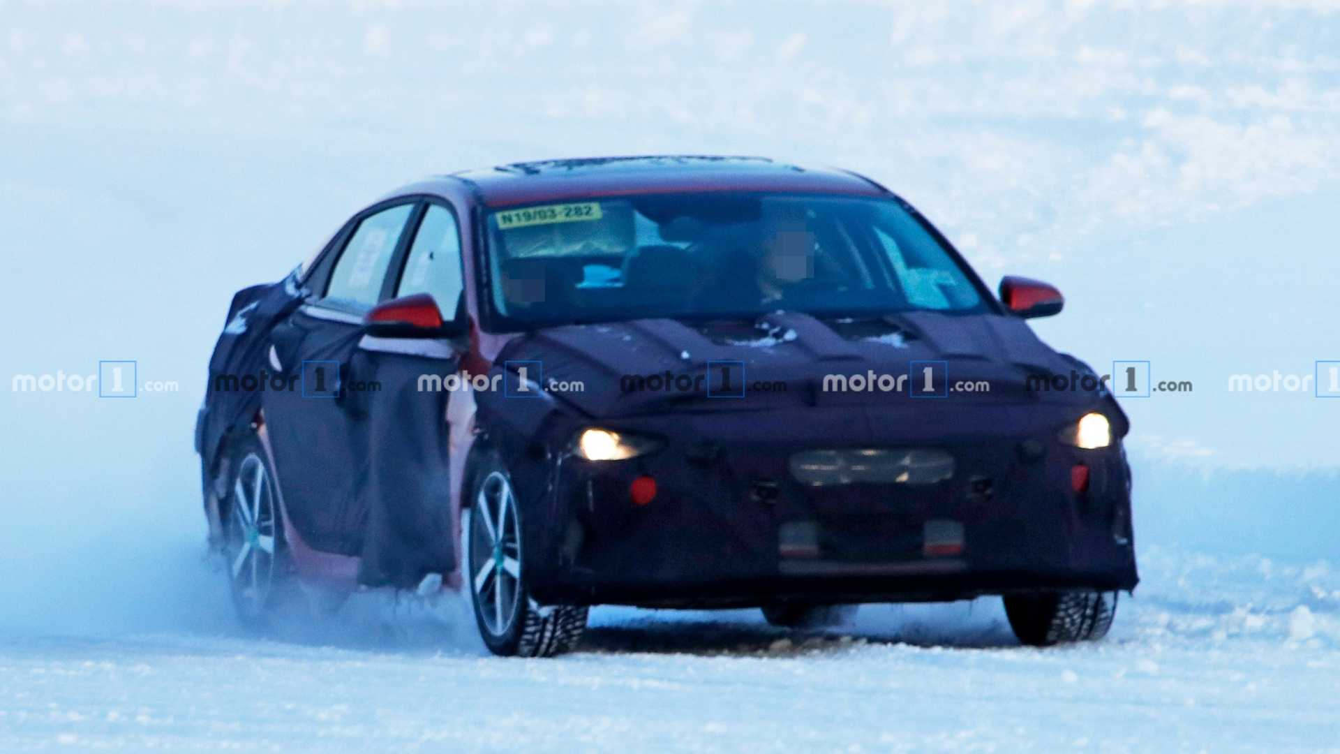 2021 Hyundai Elantra Spied Standing Out In A Snowy Field