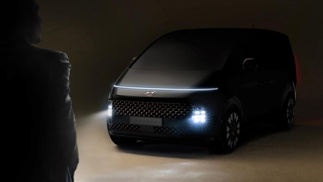 Hyundai's upcoming Staria van looks like it was beamed to 2021 from 2121