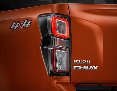 Isuzu D-Max rear lights detail