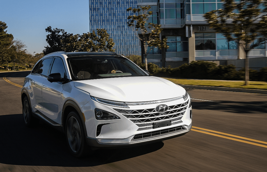 With the Hyundai Nexo, water produced by the car can be used to drink